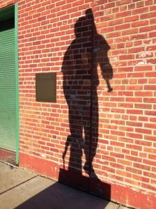 014 Christmas Ted and Kid Shadow
