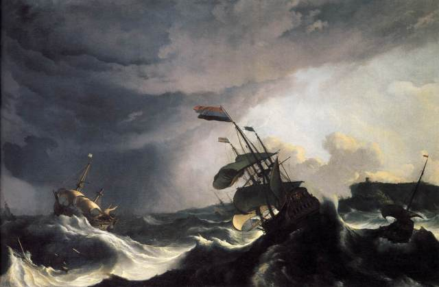 Ships in a Raging Storm